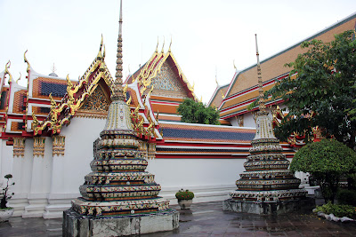 Ceramic tiles and Wat Pho of Bangkok