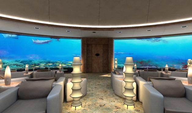 Ξενοδοχείο 40 πόδια κάτω από τη θάλασσα! Video.