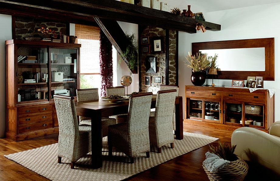 Muebles para una casa rural i for Muebles teca colonial