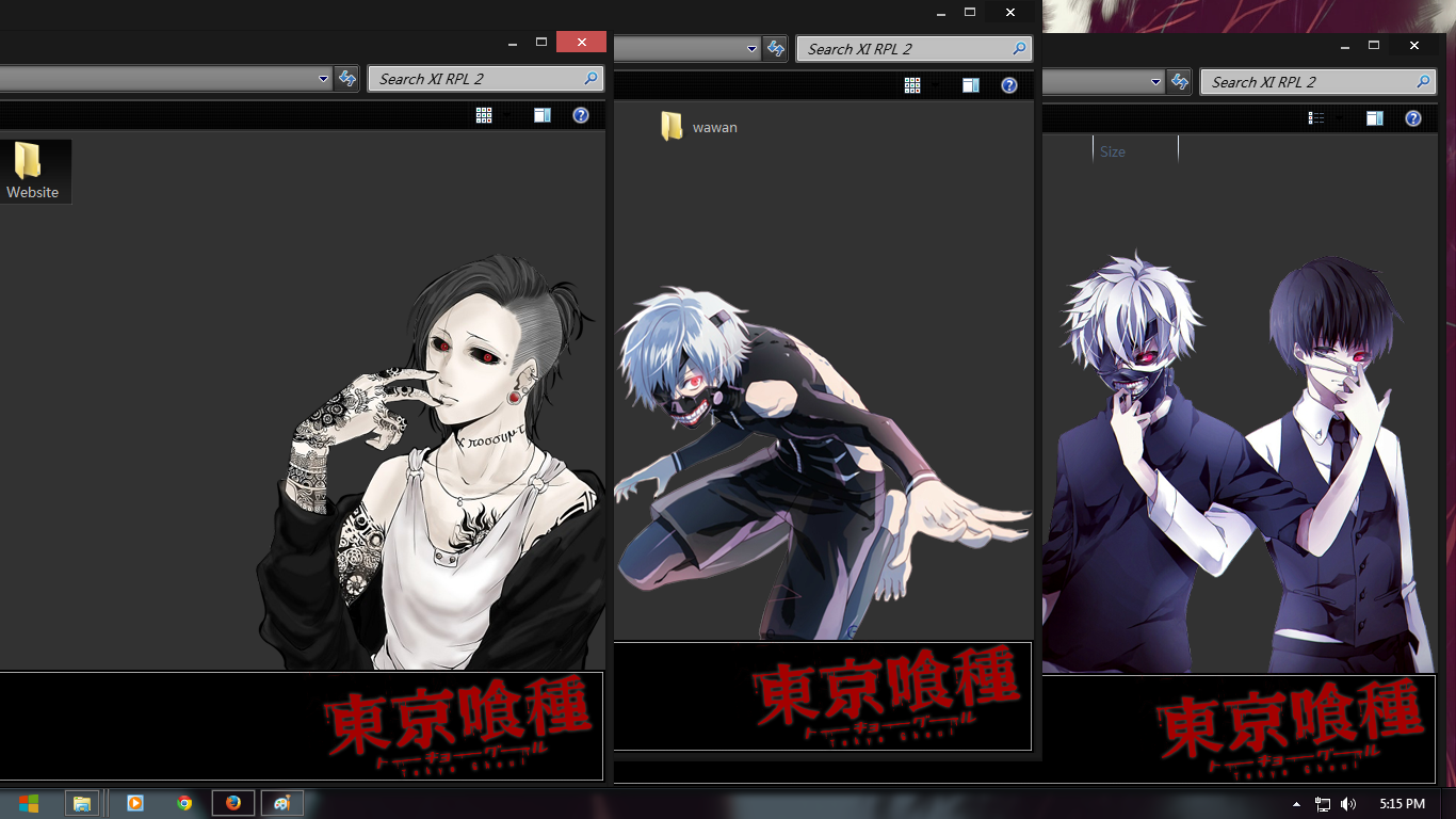 Google chrome themes tokyo ghoul -  Win 7 Theme Tokyo Ghoul Black Edition By Shiroskin