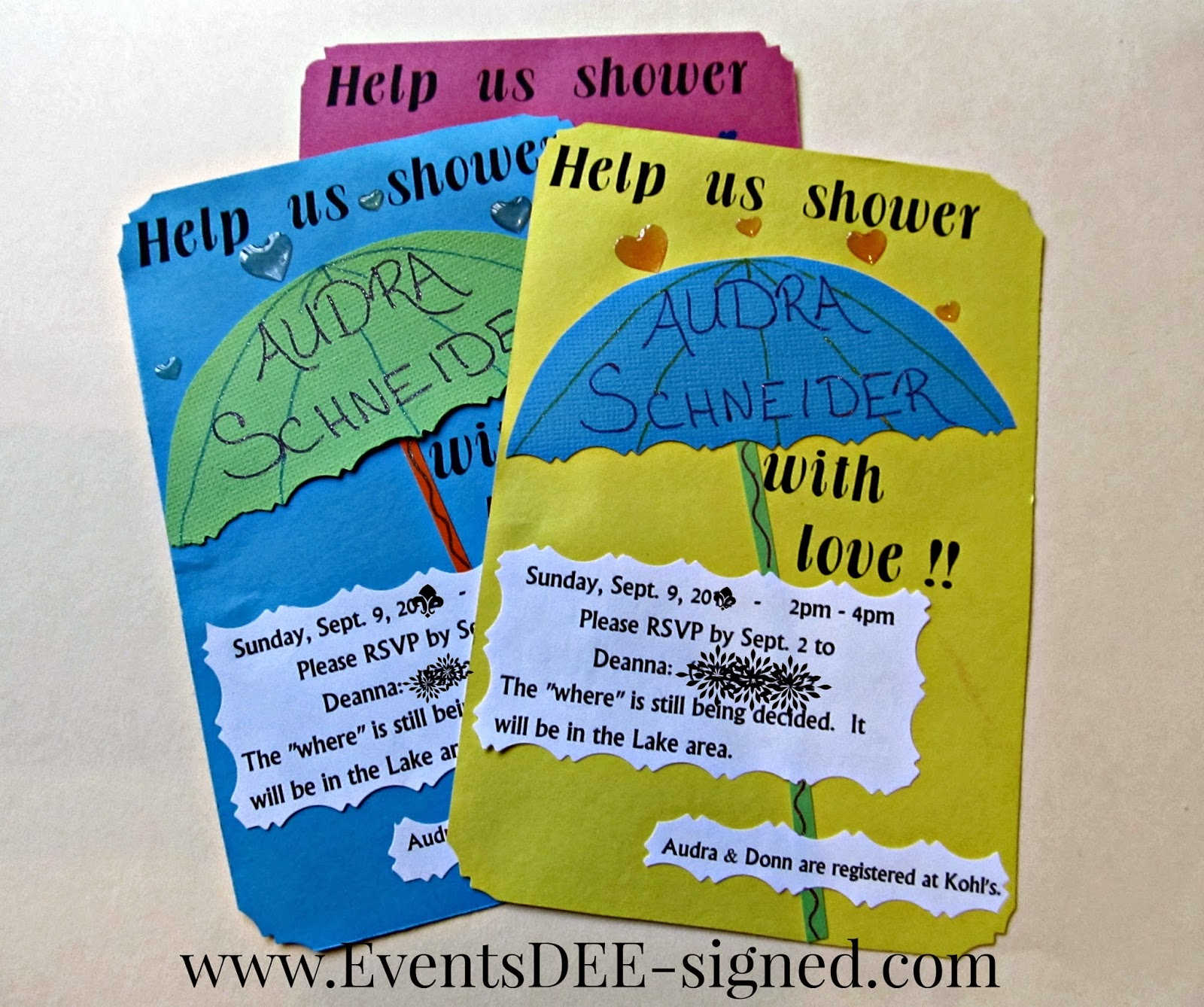 EventsDEE-signed Bridal Shower Invitation weddings party planning event planning