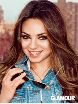 Mila Kunis Double Denim Fashion On Glamour Magazine ~ Krazy Fashion