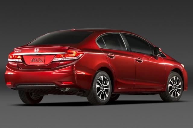 2015 All New Honda Civic Sedan exclusive back view