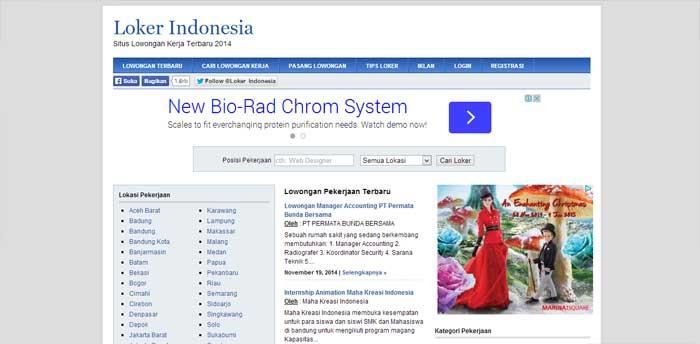 Situs Lowongan Kerja LokerIndonesia