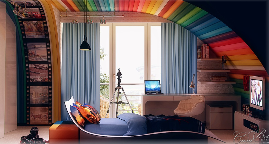 Colorful kids room design ideas interior design for Interior design for kid bedroom