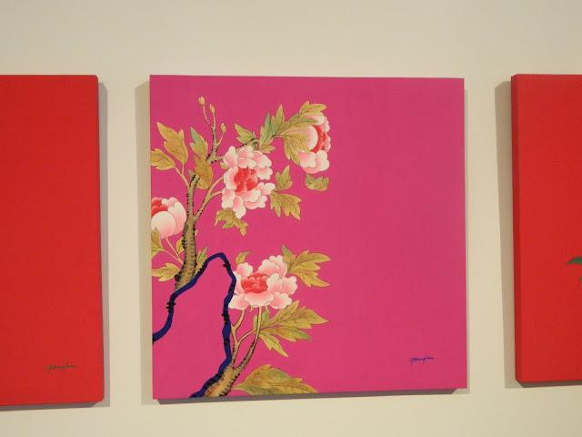 Peonies in pink, minhwa painting