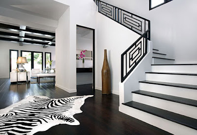 black white living room interiors