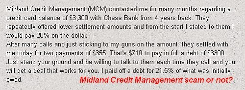 Midland Credit Management scam
