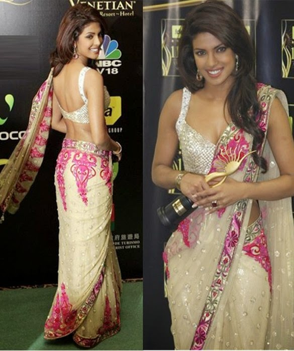 Designer Bollywood Celebrity Replica Partywear Saree - PRIYANKA CHOPRA IIFA