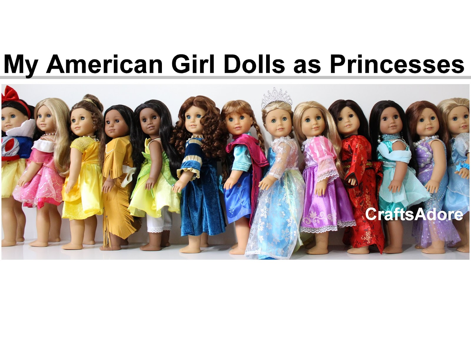 My American Girl Dolls as Disney Princesses