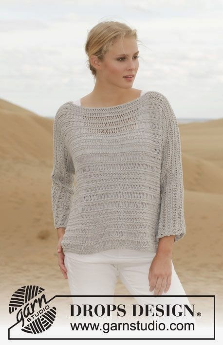 MES FAVORIS TRICOT-CROCHET: Modèles gratuits : 2 pulls d'été au tricot