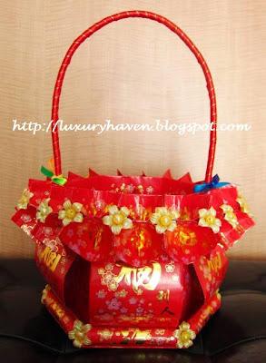 chinese new year ang pow basket