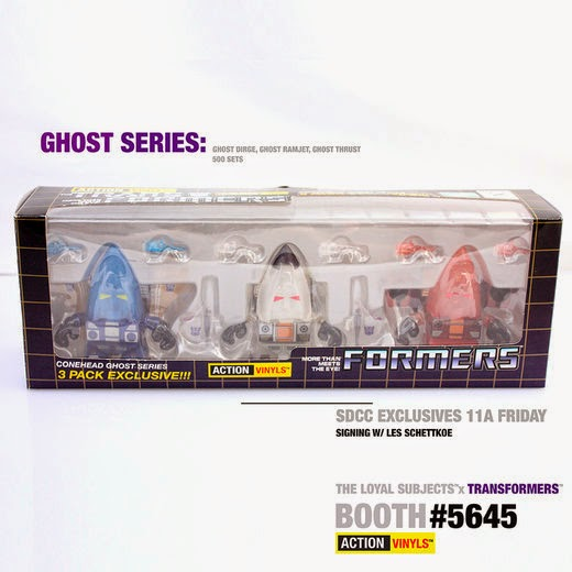 San Diego Comic-Con 2014 Exclusive Ghost Seekers Transformers Mini Figure 3 Pack by The Loyal Subjects