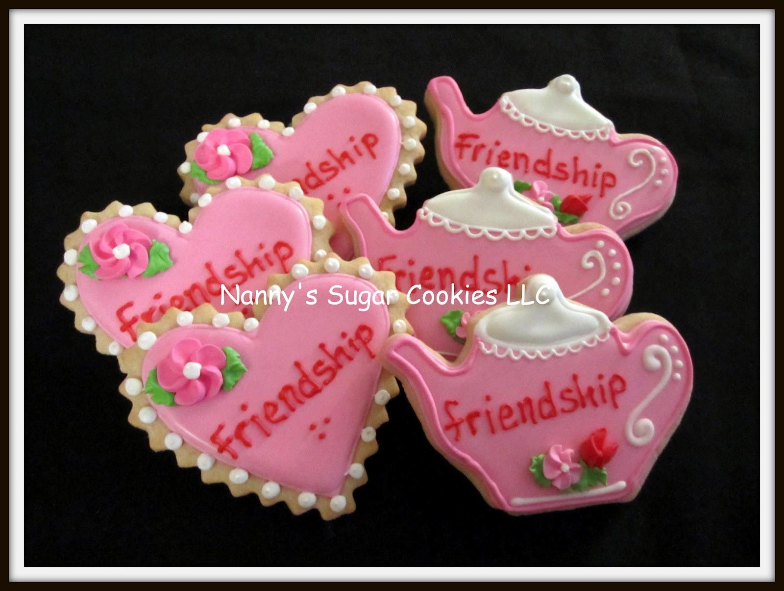 Nanny\'s Sugar Cookies LLC: Friendship Tea Party cookie favors...