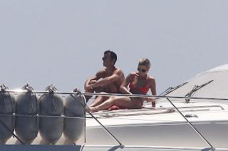Jennifer Aniston Bikini on boat in Capri