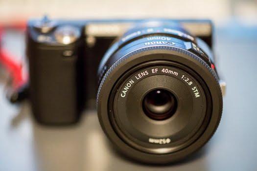 canon 40mm stm lens sony nex