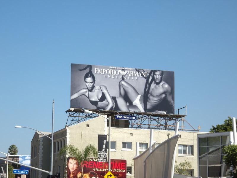 Beckham's Armani underwear billboard