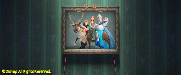 Anna, Elsa, Kristoff, Sven and Olaf in Frozen Fever