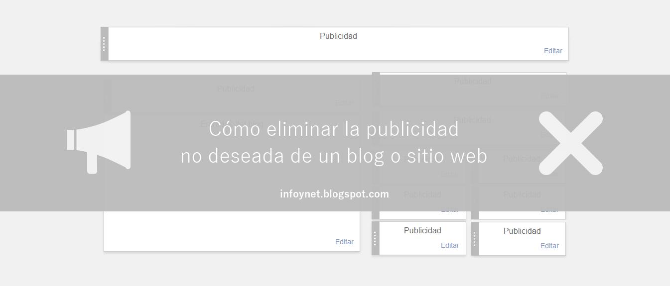 Cómo eliminar la publicidad no deseada de un blog o sitio web