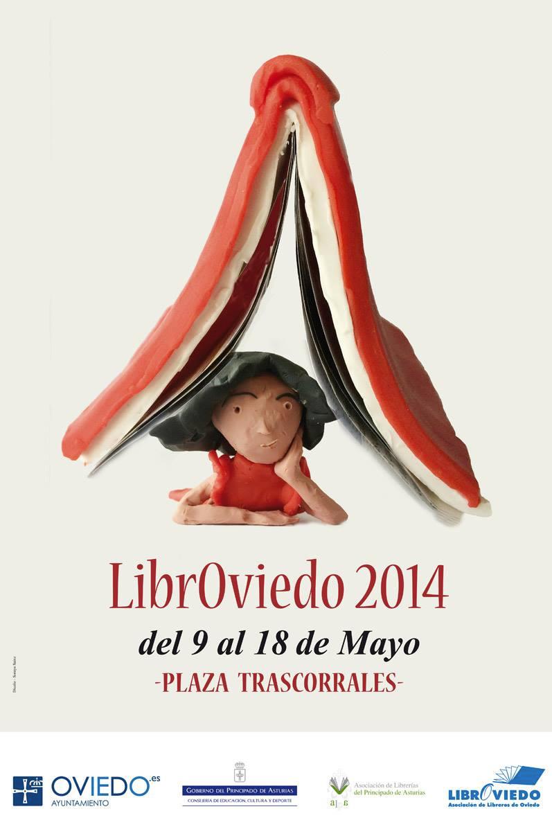 cartel feria libro LibrOviedo 2014, Oviedo