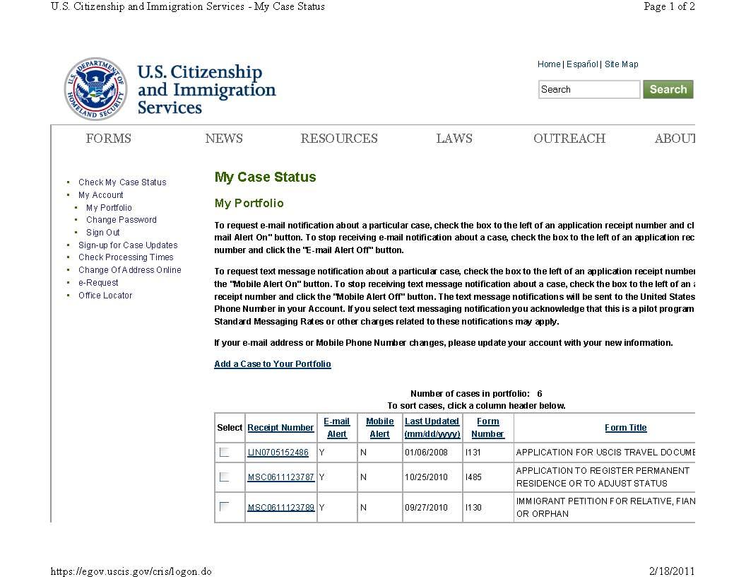 Us immigration marriage fraud uscis case status i 130 i 485 uscis case status i 130 i 485 applications and case status summary falaconquin