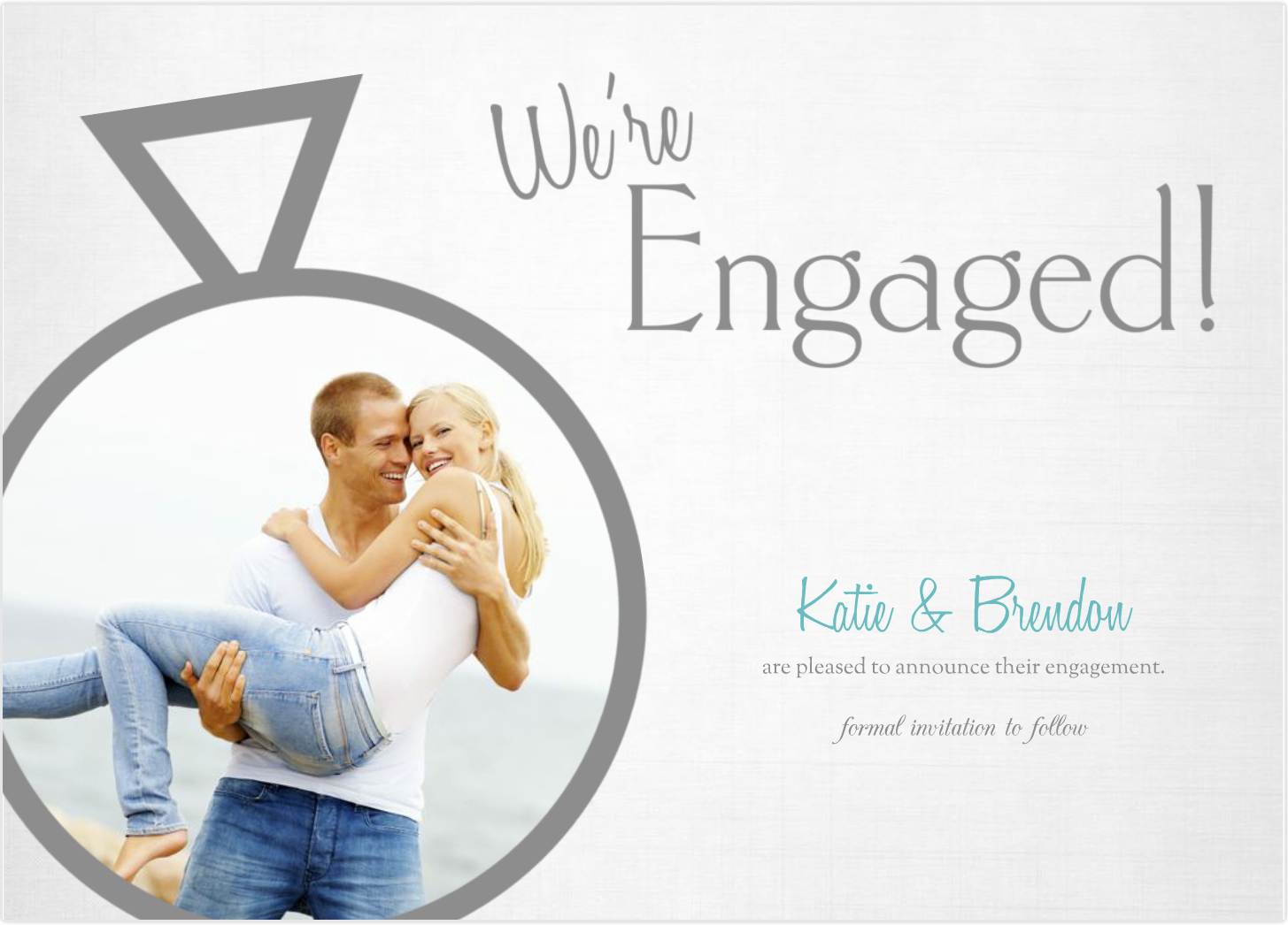 ... : Mixbook 5x7 Custom Engagement Announcement Card Review