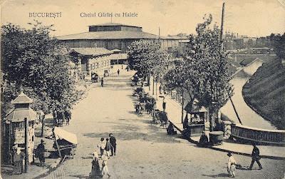 Bucuresti - Hala Unirii, Dambovita 1910