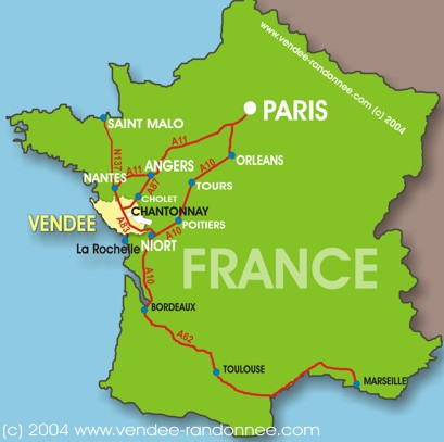 Vendee France Map