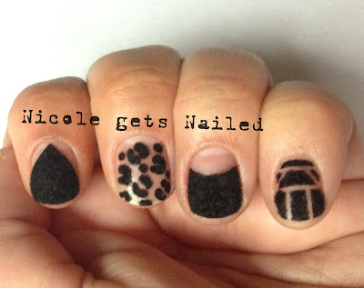 Black Flocking Powder Born Pretty Store Nails