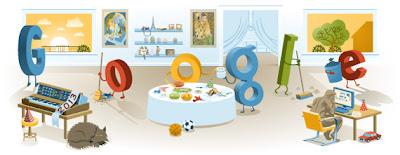 Google 2013 Yılbaşı Tatili Logosu