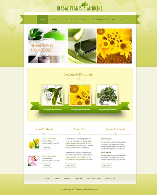 Herbal medicine website template