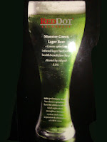 Red Dot Monster Green Lager beer infused with spurlina