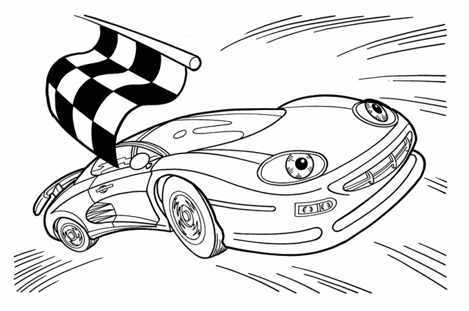سريعة جدا وتقطع خط النهاية في صورة لسيارة سباق