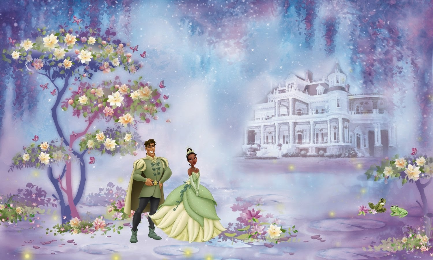 Disney The Princess And The Frog 6 Foot By 10 5 Foot Prepasted Wall Mural
