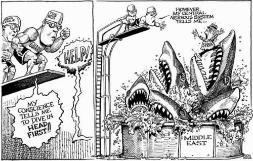 Political Hesitation Humor Cartoon