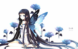 butterfly wings anime girl hd wallpaper