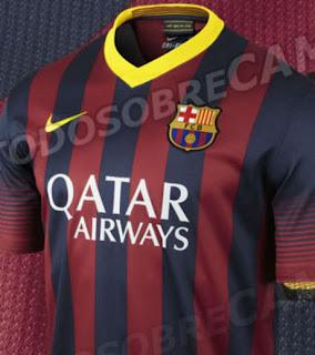 FC Barcelone : Le nouveau maillot du Barça pour la saison 2013-2014