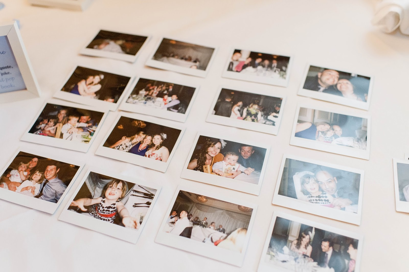How to make a wedding polaroid guest book - Alexa Loy Photography