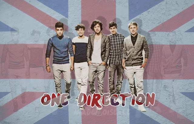 one direction wallpaper with british flag