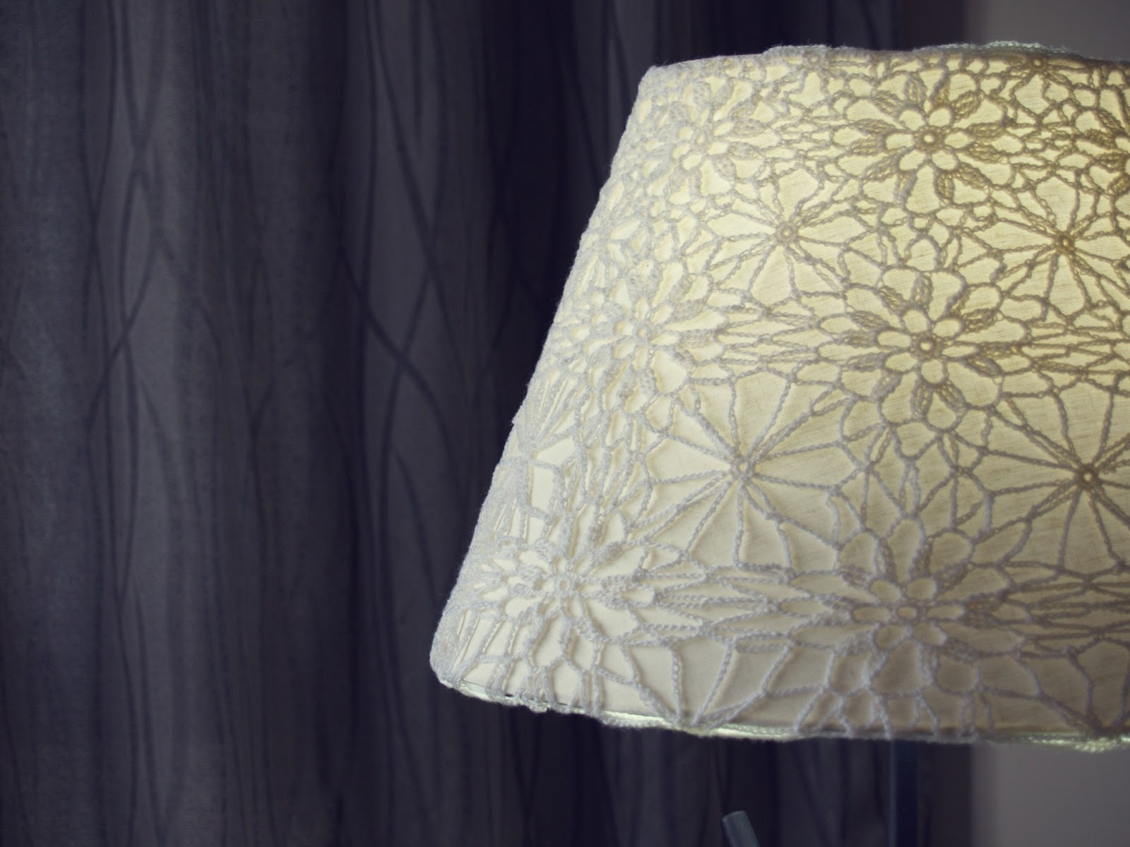 lampadario stoffa : Howsanne Handmade Crochet : Crochet Lampshade