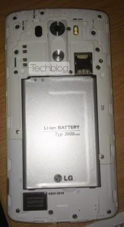 LG G3 akan dibekali baterai sebesar 3,000 mAh