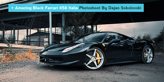 Ferrari 458 Italia Black Wallpaper
