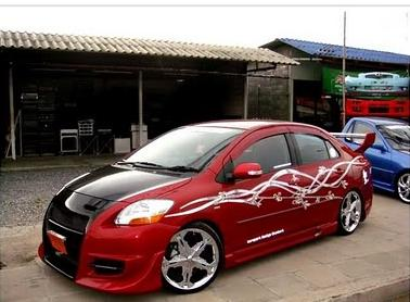 Car Stiker New Toyota Vios Modified With Flower Sticker