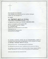 Rouwbrief Albert Pouleyn 1893-1993