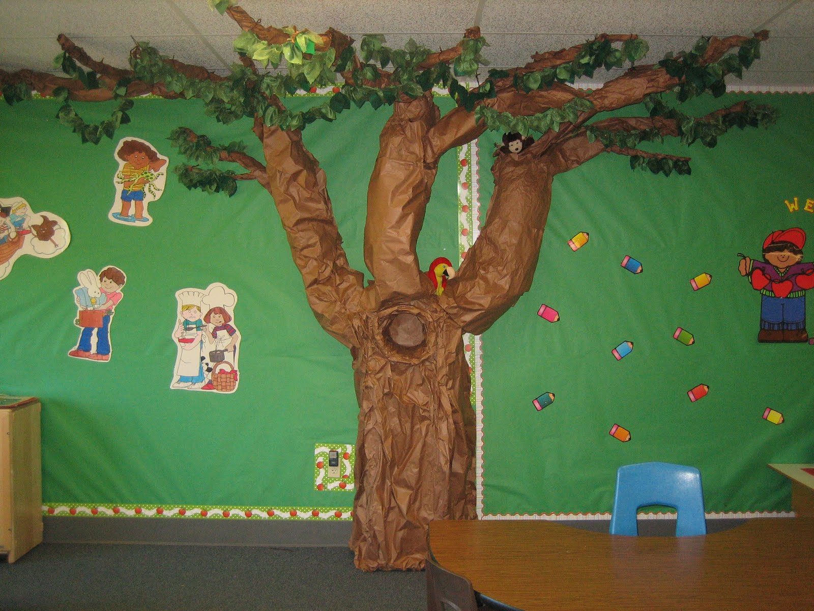 Classroom Tree Ideas ~ Teaching the little people classroom tree