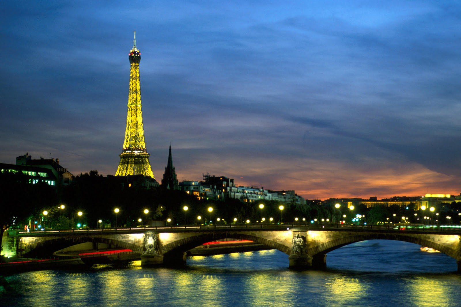 android phones wallpapers: android wallpaper paris at night dual