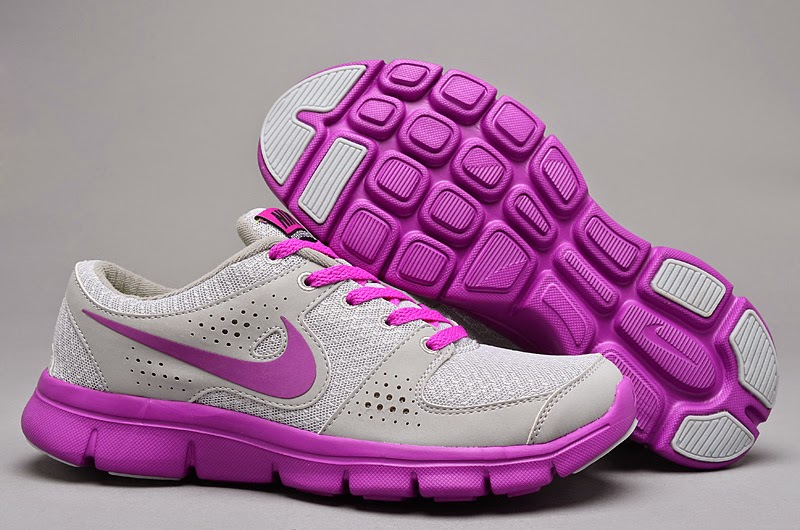 Budget Nike Air Max Women Gray Pink Running Shoes Wear Resistance