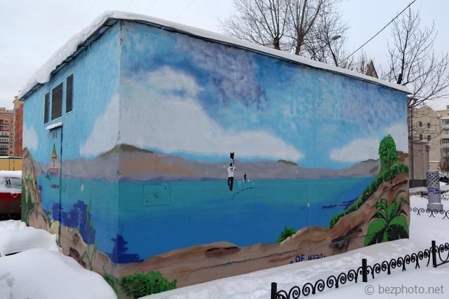 интересные граффити в москве