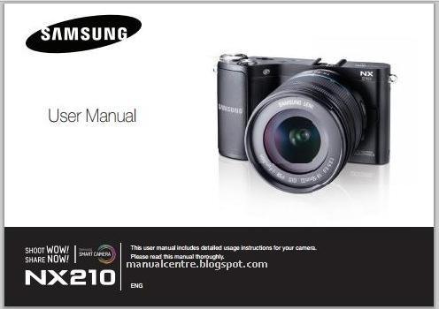 Samsung NX210 Mirrorless Manual Cover