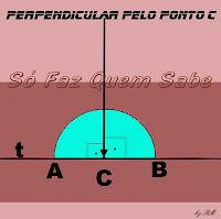 Como fazer para traçar duas retas perpendiculares entre si, cruzando-as em um ponto pré-determinado